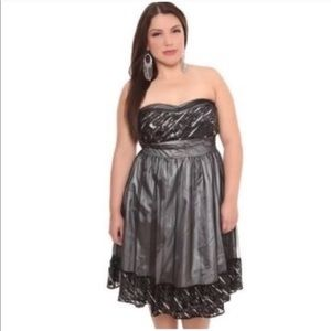 Torrid Black Sequin Mesh Party Dress 22